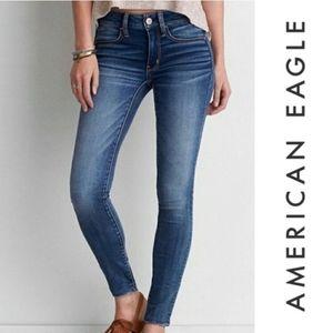 American Eagle Skinny Mid Jegging Legging Jeans 6